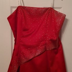 Red Prom Formal Dress with Rhinestones